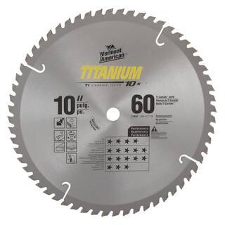"Vermont American 27833 10"" 60 TPI 10X Titanium Carbide Circular Saw Blades|https://ak1.ostkcdn.com/images/products/11552549/P18496827.jpg?impolicy=medium"