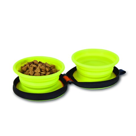 Petmate Silicone Travel Bowl Duo