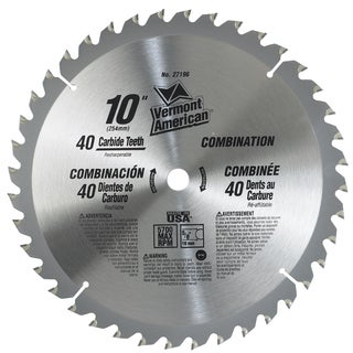 "Vermont American 27196 10"" 40 TPI Trade Duty Series Carbide Tip Circular Saw Blade"