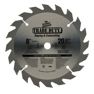 "Vermont American 27173 8"" 20 TPI Trade Duty Series Carbide Tip Circular Saw Blade"