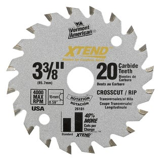 "Vermont American 26123 5-3/8"" 30 Tooth Fine Finish Circular Saw Blade"