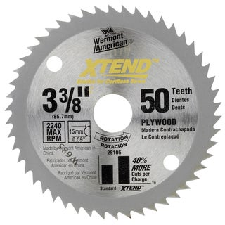 "Vermont American 26105 3-3/8"" XTEND Steel Circular Saw Blade For Wood Cutting"