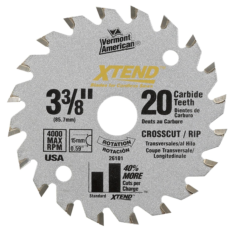 "Vermont American 26101M 3-3/8"" 20T Xtend Carbide Circular..."