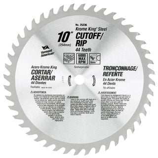 "Vermont American 25227 6-1/2"" 36T Krome King Cutoff/Ripping Circular Saw Blade"