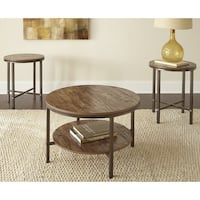 Greyson Living Sonoma Distressed Brown Laminate/Metal 3-piece Occasional Table Set