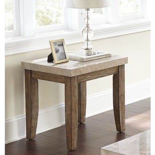 Greyson Living Fulham Marble Top End Table