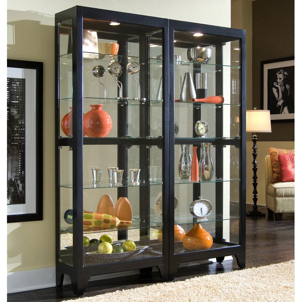Black Bunching Curio Cabinet (Curio Cabinet)