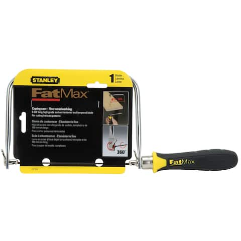 "Stanley Hand Tools 15-104 4-3/4"" FatMax Coping Saw"