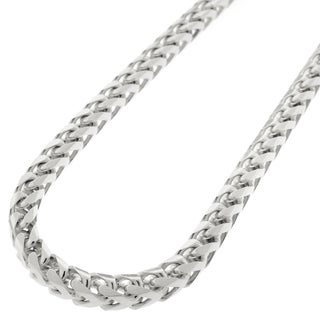 Sterling Silver 5mm Solid Franco Rhodium-plated Chain