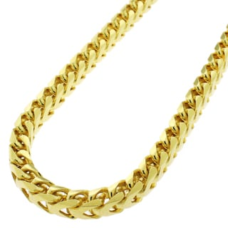 Yellow Goldplated Silver 5.5mm Solid Franco Necklace