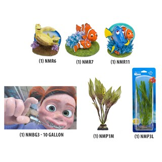 Penn Plax Disney Pixar Finding Nemo Aquarium Decoration Kit (Option: Green)