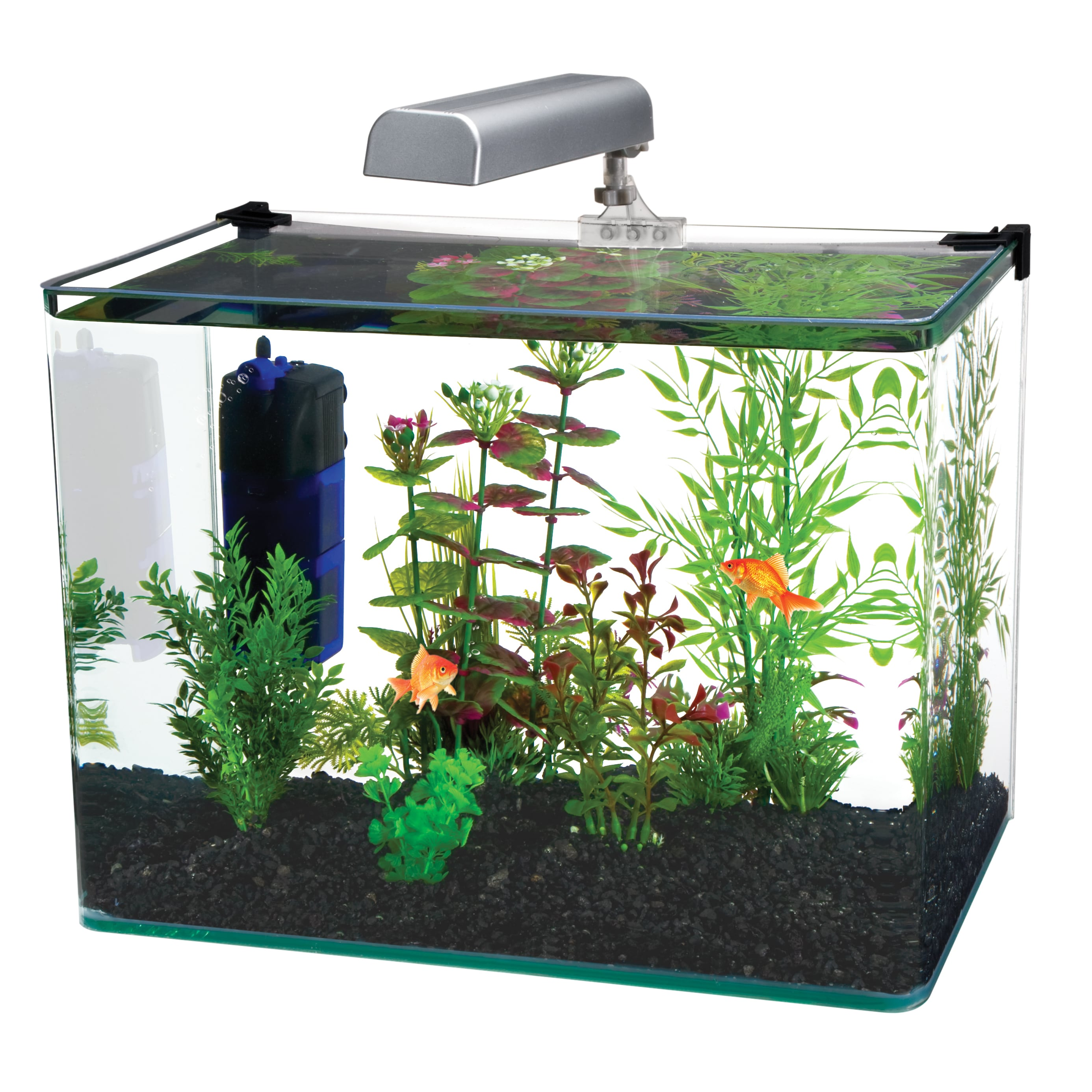 Penn Plax Radius Desktop Aquarium Kit (15.7 x 11.7), Clear