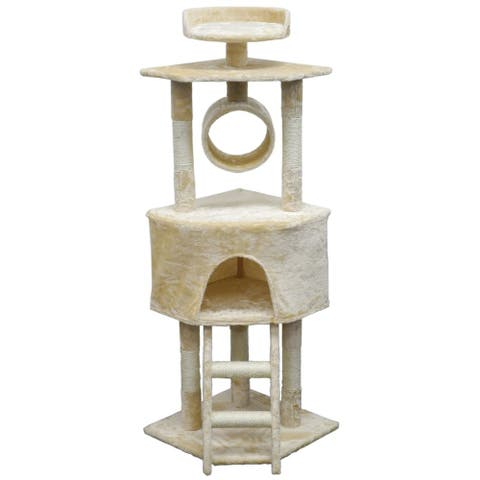 Homessity 56-inch Lightweight Beige Cat Tree