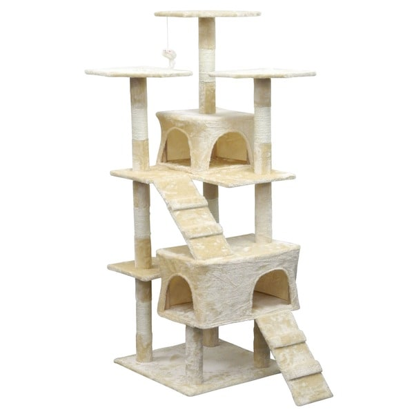 Homessity 63-inch Lightweight 2 Condo Cat Tree