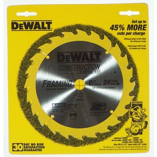 "Dewalt DW9154 6-1/2"" 24T Carbide Circular Saw Blade"