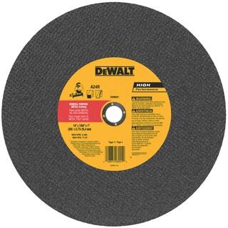 """Dewalt DW8001 14"""" High Performance Metal Chop Saw Wheel"""