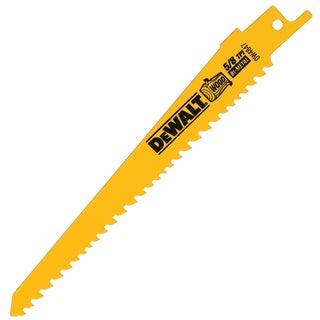 """Dewalt DW4847 6"""" 5/8 TPI Wood Cutting Reciprocating Saw Blades"""