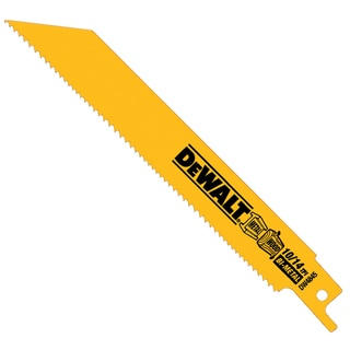 "Dewalt DW4845 6"" 10/14 TPI Straight Back Bi-Metal Reciprocating Saw Blade"