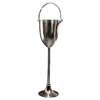 Nickel Finished Champagne Bucket and Wine Stand