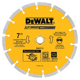 "DeWalt DW4714 7"" Diamond Saw Blade"