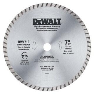 "DeWalt DW4712B 7"" Abrasive Blade"