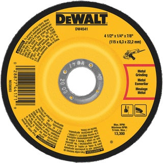 "DeWalt DW4541 4½"" x ¼"" x 7/8"" High Performance Fast Metal Grinding Wheel"