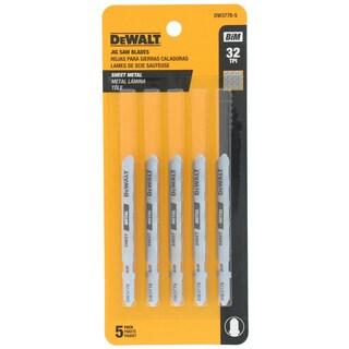 """Dewalt DW3778-5 3"""" 32TPI Metal Cutting T- Shank Jig Saw Blades"""