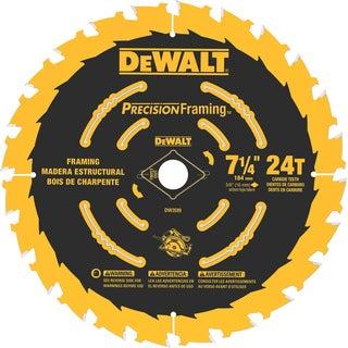 """DeWalt DW3599B10 7-1/4"""" 24 Teeth Framing Saw Blade"""