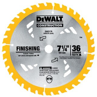 "Dewalt DW3176 7-1/4"" 36T Finishing Circular Saw Blade"