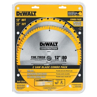"DeWalt DW3128P5 12"" Saw Blade Combo Pack"