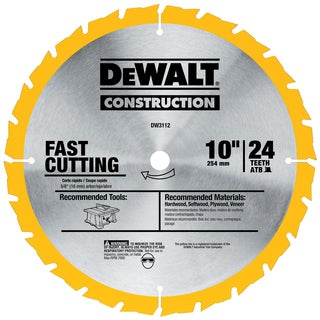 """Dewalt DW3112 10"""" Fast Rip Circular Saw Blade"""