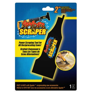 """Spyder 00138 2"""" Black Scraping Tool Attachment For Reciprocating Saw"""