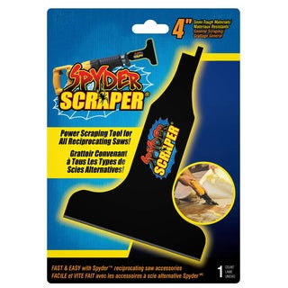 "Spyder 00108 4"" Black Scraping Tool Attachment For Reciprocating Saw"