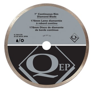 "QEP 6-7001Q 7"" Continuous Rim Diamond Tile Saw Blade"