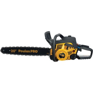 "Poulan Pro 966055201 20"" 50cc 2-Stroke Gas Powered Chain Saw With Carrying Case"