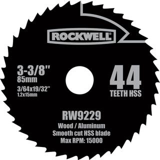 """Rockwell RW9229 3-3/8"""" Versa Cut 44 Teeth HSS Circular Saw Blade"""