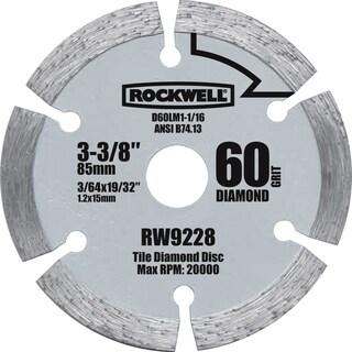 "Rockwell RW9228 3-3/8"" Versa Cut Diamond Grit Circular Saw Blade"