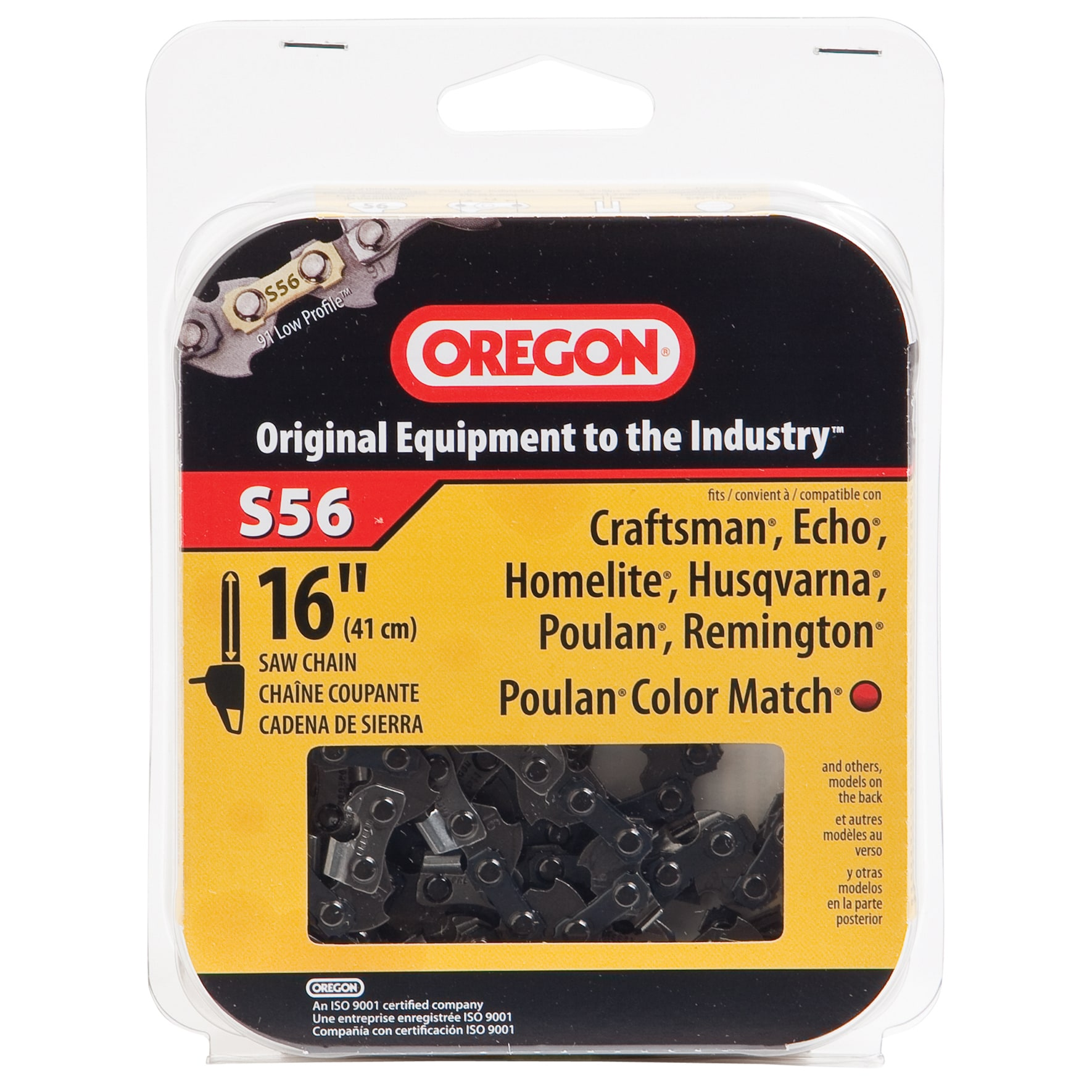 "Oregon S56 16"" HD Semi Chisel Cutting Chain (Saws/sawblad..."