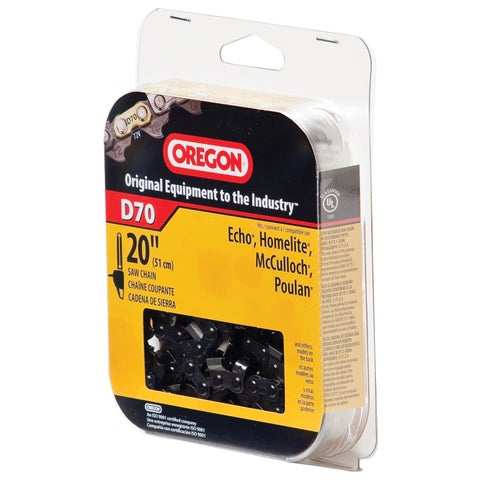 "Oregon D70 20"" Full Chisel Cutting Chain"