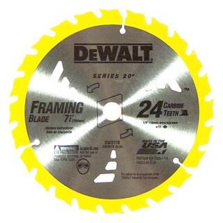 """Dewalt DW3578B10 7-1/4"""" 24T Framing Circular Saw Blade"""
