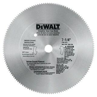 "Dewalt DW3326 7-1/4"" 140T 5/8"" Hallow Ground Steel Circular Saw Blade"