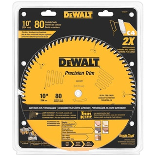 "DeWalt DW3218PT 10"" 80 Teeth Trim Saw Blade"