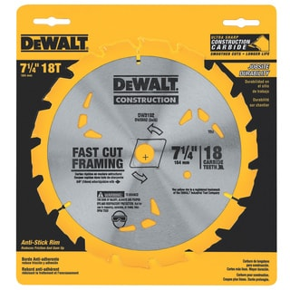 "DeWalt DW3192 7-1/4"" 18 Teeth Finishing Carbide Saw Blade"