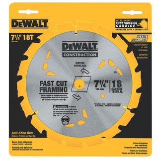 """DeWalt DW3192 7-1/4"""" 18 Teeth Finishing Carbide Saw Blade"""