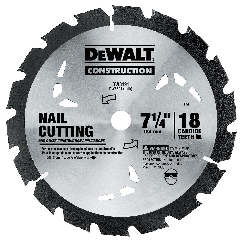 """Dewalt DW3191 7-1/4"""" Rock Carbide Circular Saw Blade (Saw..."""