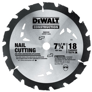 "Dewalt DW3191 7-1/4"" Rock Carbide Circular Saw Blade"