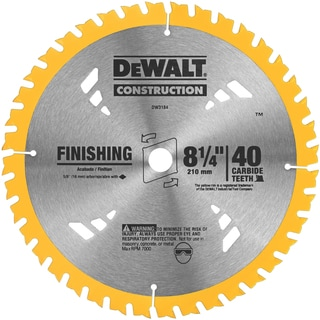 "Dewalt DW3184 8-1/4"" Finishing Circular Saw Blade"