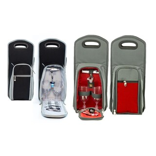 Insulated Wine Bottle Tote Bag (7 piece set)