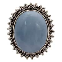 Handmade Sterling Silver Blue Opal Ring (India)