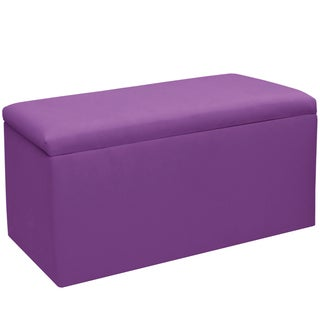 Skyline Furniture Kids Storage Bench in Duck Purple